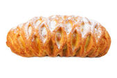 Croissant from flaky pastry with poppy — Stock Photo