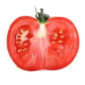Red tomato slice . — Stock Photo