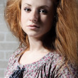 Redhaired mysterious woman — Stock Photo #3419401