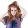 Stock Photo: Portrait of red-haired girl.