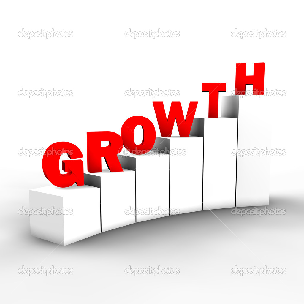A concept of an abstract way to growth in the competitive world of business or real life. — Stock Photo #3777732