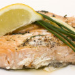 Stock Photo: Baked salmon
