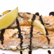 Salmon with balsamic vinegar — Stock Photo