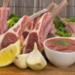 Stock Photo: Racks of lamb
