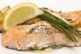 Baked salmon — Stock Photo