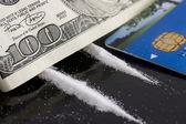 Drug and money — Stock Photo