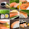 Sushi background — Stock Photo