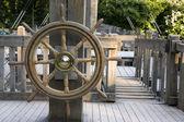 Old rudder — Stock Photo