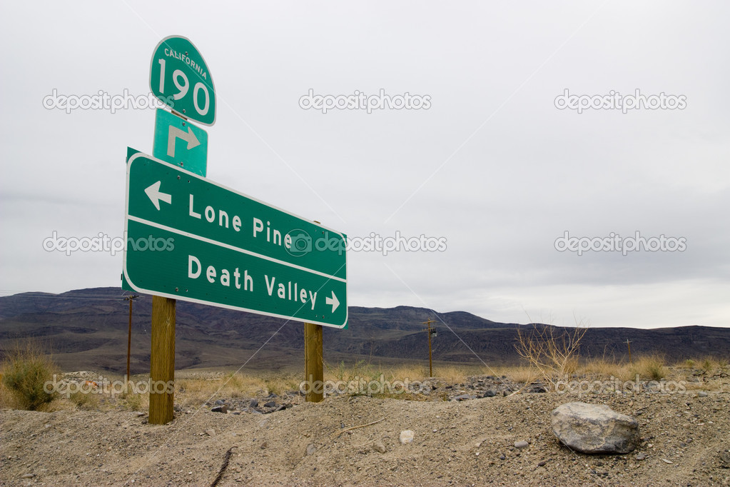 Direction signal in the Death valley desert  Stock Photo #3537887