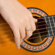 Clouse-up acoustic guitar. — Stock Photo