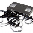 Old unusable vhs cassette — Stock Photo