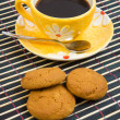 Cookies and cup with cofee — Stock Photo