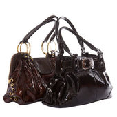 Black and brown leather bags — Stock Photo