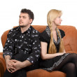 Adult couple on the sofa - Foto Stock
