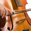 Musician with cello — Stock Photo