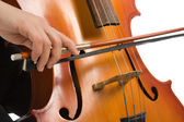 Musician with cello — Stock Photo
