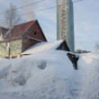 Stock Photo: Rural house in snow