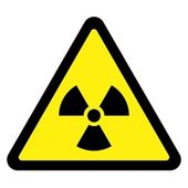 Radiation Triangular Sign — Stock Vector