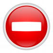 Stop pictogram — Stockfoto