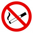 No Smoking Sign — Wektor stockowy