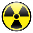 Radiation Round Sign Icon - Stock Photo
