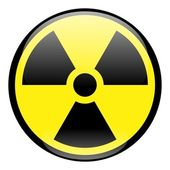 Radiation Round Sign Icon — Stock Photo