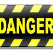 Stock Vector: Danger Sign