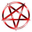 Red Glaring Pentagram - Stock Vector