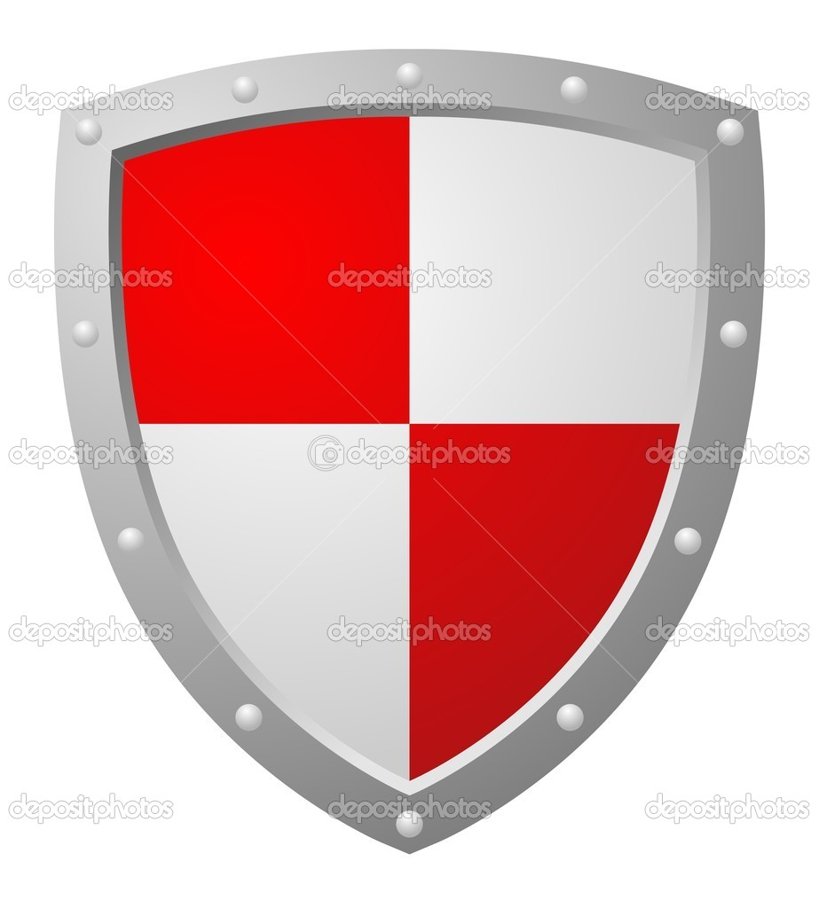 Red Shield — Stock Vector © okeen_ #2772401