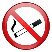 No Smoking Sign Button — Stock Photo