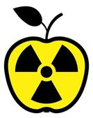 Apple polluted by radiation — Cтоковый вектор