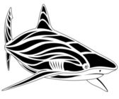 Shark, tattoo — Stock Vector