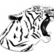 Stock Vector: Tiger, tattoo