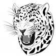 Leopard, tattoo — Stock Vector