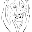 Lion, Tattoo — Vector de stock