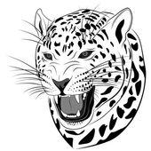 Leopard, tattoo — Stock Vector