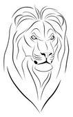 Lion, Tattoo — Stock Vector