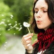 Girl with dandelion - Stock Photo