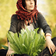 Stock Photo: Girl in red kerchief