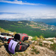Bike over the precipice — Stock Photo