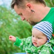 Child wiht father — Stock Photo #3771886