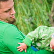 Child wiht father — Stock Photo