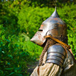 Stock Photo: Man in knight's helmet