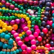 Stock Photo: Colorful necklace pil