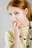 Portret van het mooie meisje — Stockfoto