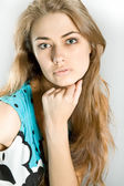 Portrait of the beautiful girl — Stock Photo