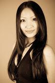 Portrait of young beautiful girl — Stockfoto