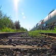 Oil and fuel transportation by rail — Stock Photo #3569269