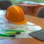 Construction plan — Stock Photo