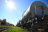 Oil and fuel transportation by rail — Stock Photo